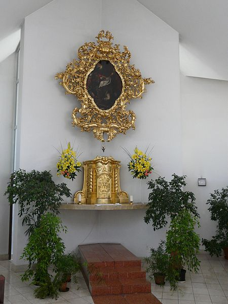 Tabernacle with stone kneeler