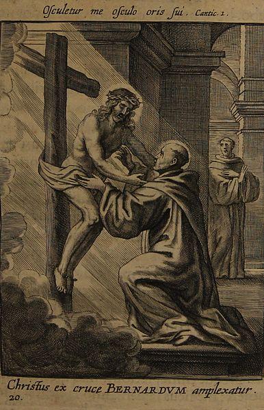Jesus embracing St. Bernard