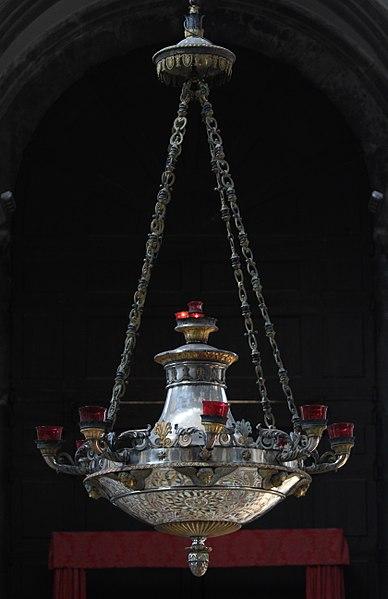Sanctuary lamp suspended
